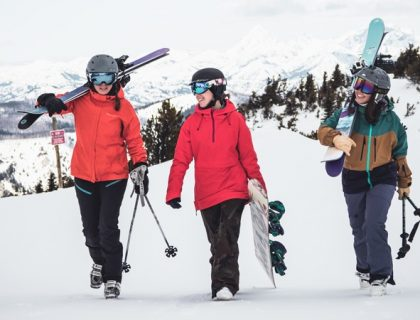 Jackets, gloves, and Boots essential items in ski riding